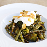 Roasted Beans and Broccoli and Szechuan Peppercorn Yogurt