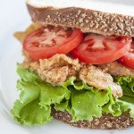 Crispy Chicken Skin Bacon BLT