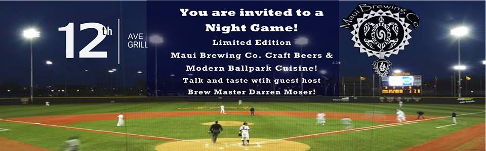 39 12 at 12th 39 dinner series featuring maui brewing co for 12th ave grill open table